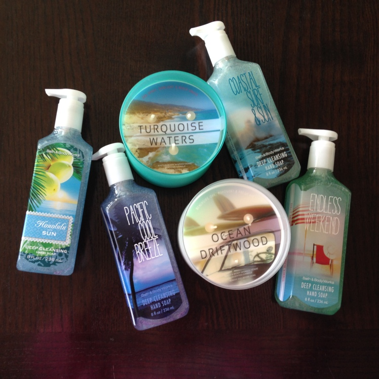 bath and body works, summer scents, new bath and body works, bath and body works semi annual sale, bath and body works summer scents, beach bound