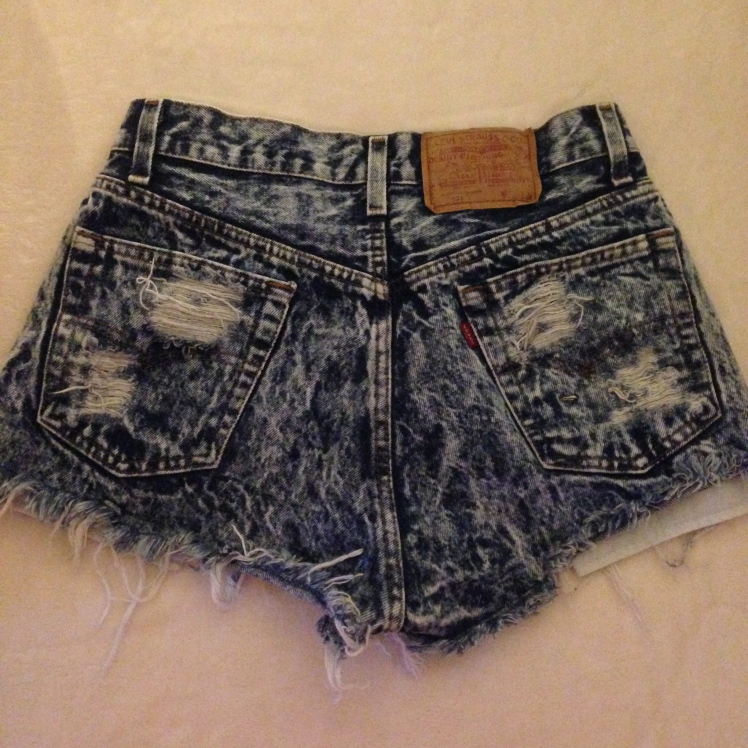 high waisted levi jean shorts, melrose trading post