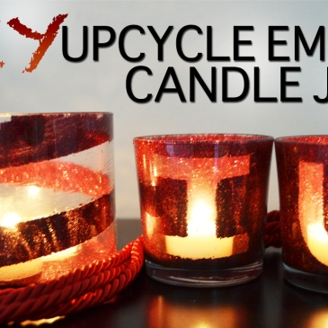diy upcycle recycle empty candle jars