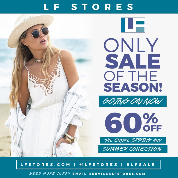 lf only sale of the season