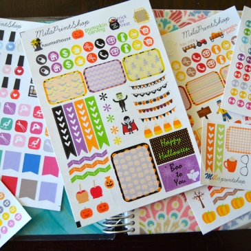 plan with me erin condren, milaprintshop easy sticker haul