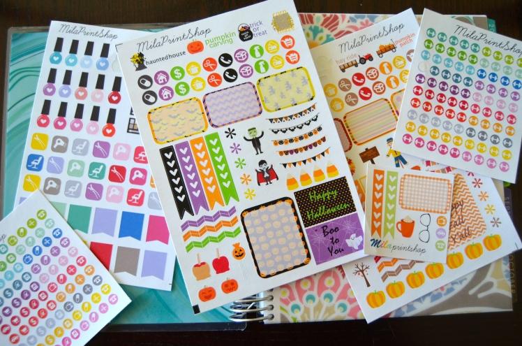 plan with me erin condren, milaprintshop easy sticker haul
